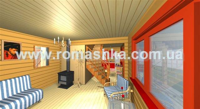 Проект будинку з профільованого брусу