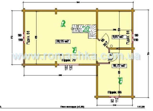 План другого поверху будинку з