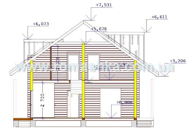 Дома дома из клееного бруса проект d 10