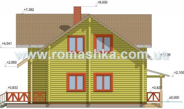 Модель деревянного дома из клееного