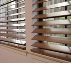 Shutters and blinds wooden house