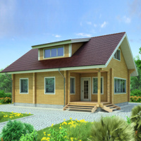 Draft wooden house with a profiled beam or beams 128 m