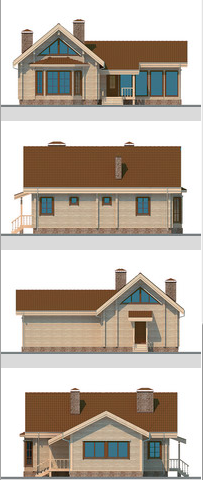 Elevations of building 163 sq.m.
