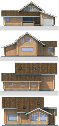 Elevations of building 180 sq.m.