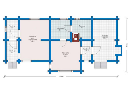 Floor Plan home with laminated glued timber 116 sq.m.