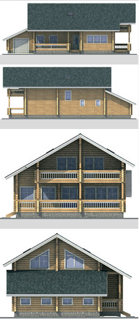 Elevations of building 223 sq.m.