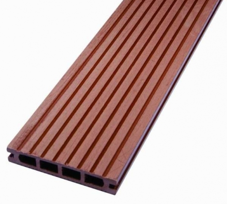 Composite Decking made from polymers. photo